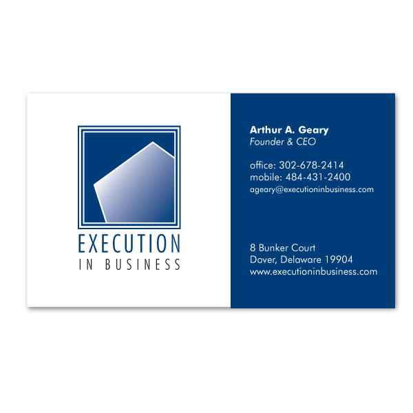 Execution In Business Blue Dogg Design