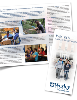 Wesley College Trifold Brochure